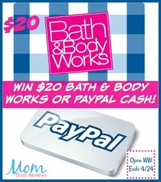 It's April already- time for all those April Showers that bring May Flowers! I know everyone LOVES to win CASH or pretty smelling products from Bath & Body Works! You pick the prize! Rain Rain Go Away, Come Again Another Day!