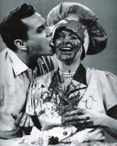 """Lucille Ball&Desi Arnaz(via snap)  """"At times we were criticized for doing too much slapstick. I don't believe in mild comedy, and neither does Lucy.""""  -Desi Arnaz"""
