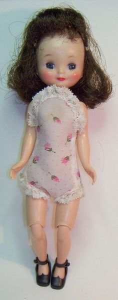 "Vintage Betsy McCall Doll 8"" HP Sleep Eyes Jointed Knees Wig Skull Cap Amer Char"