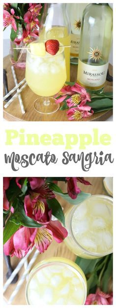 Pineapple Moscato Sangria Pineapple Moscato Sangria Delicious and refreshing spring cocktail! The post Pineapple Moscato Sangria appeared first on Getränk. Party Drinks, Fun Drinks, Yummy Drinks, Beverages, Drinks Alcohol, Pineapple Alcohol Drinks, Pool Drinks, Alcohol Recipes, Sangria Recipes