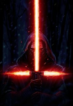 Awesome Star Wars Episode VII: The Force Awakens Fan Art showing Kylo Ren and the new Sith Lightsaber