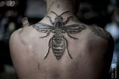 bee eye by m-x-m #back #tattoos