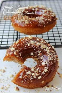 Also gluten free and dairy free, not vegan (egg) Paleo Almond Vanilla Maple Donuts! Also gluten free and dairy free, not vegan (egg) Gluten Free Donuts, Gluten Free Sweets, Paleo Dessert, Dairy Free Recipes, Healthy Desserts, Gluten Free Recipes, Real Food Recipes, Dessert Recipes, Yummy Food