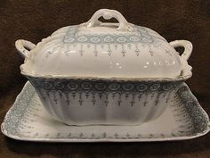 "Antique Circa 1880's John Maddock & Sons ""Premier"" Soup Tureen and Underplate"