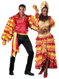 Cuban Traditional Costume   Adult Super Deluxe Rumba Man Costume