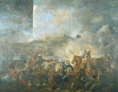 "Philippe de France, Monsieur, duc'd'Orleans (far right on horseback with arm extended and behind Louis XIV) in ""Battle of Cassel, 11 April 1677"", 1680 by Joseph Parrocel (Musée de l'Armée, Hotel des Invalides).  The King was actually in Cambrai during this battle, but had himself painted in due in part to jealousy over his brother's victory."