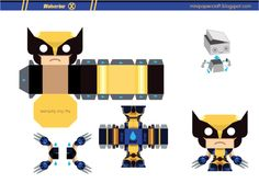 Blog Paper Toy papertoy Wolverine template preview Mini papertoy Wolverine