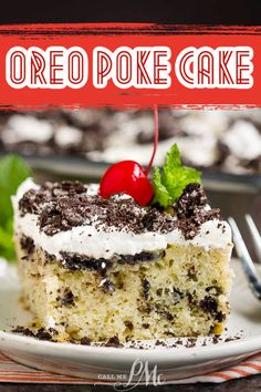 Oreo Poke Cake with Sweetened Condensed Milk, aka Cookies and Cream Cake, is an easy and quick dessert that is luxuriously moist and decadent. #cake #Oreo #Oreocookies #Oreocake #baking #dessert #recipes Best Easy Dessert Recipes, Homemade Desserts, Easy Desserts, Quick Dessert, Delicious Desserts, Healthy Desserts, Oreo Poke Cakes, Oreo Cake, Oreo Cookie Recipes