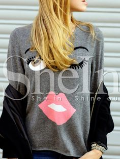 Shop Grey Long Sleeve Print T-Shirt online. SheIn offers Grey Long Sleeve Print T-Shirt & more to fit your fashionable needs.