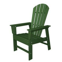 Outdoor POLYWOOD® South Beach Recycled Plastic Adirondack Chair Green - SBD16GR, Durable