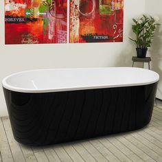 Badkar Bathlife Monte 1701 Svart - Badkar - Bygghemma.se