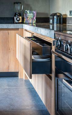 Keuken Spijkerboor - NB Interieurwerken Beautiful Kitchen Designs, Beautiful Kitchens, Küchen Design, House Design, Interior Styling, Interior Design, New Kitchen, Home Kitchens, Sweet Home