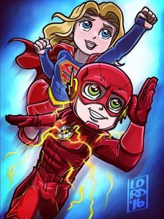 Supergirl. The Flash.