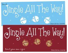 Christmas STENCIL Jingle All Way Vintage Sleigh Bells U Paint Craft Prim Signs