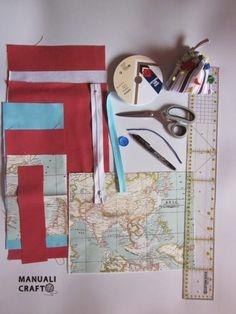 Manualicraft - Amigurumi, scrap y costura creativa: Funda portadocumentos de viaje. Tutorial