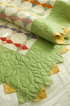 Vintage quilt using kite shape