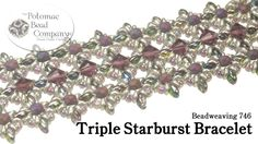 """This new bracelet tutorial from The Potomac Bead Company teaches you how to make our """"Triple Starburst"""" bracelet design, using SuperDuos, O Beads, 8/0 Seed B..."""