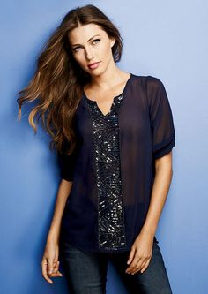 f2e402fddd636 Jada Embellished Blouse - View All Tops - Tops - Clothing - Alloy Apparel  Dressy Tops