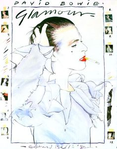 David Bowie Glamour Tour (1983) Poster