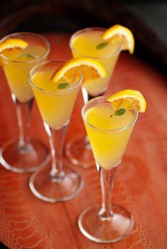 2 oz. gin 1/2 oz. blood orange juice 1/4 oz. basil syrup garnish with a 1/2 slice blood orange and small basil leaf