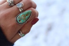 SIZE 8 - TURQUOISE RING