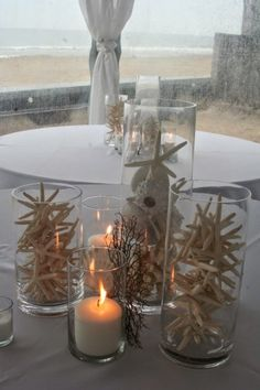 How to Create Beautiful Beach Wedding Vignettes for Centerpieces