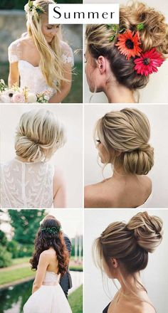 The Best Wedding Hairstyles For Each Season - Wilkie: You'll want your hair out of your face for summer weddings, so keep your hair up!