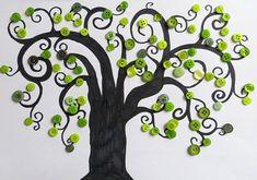 Knopfbäume basteln