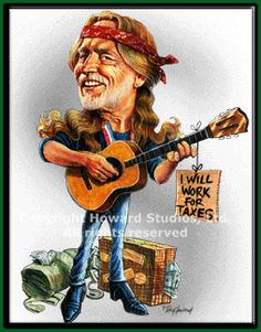 Willie Nelson Caricature by Don Howard