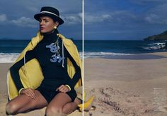 Vogue magazine featured the Unisex Flex Fleece Zip Hoodie by #AmericanApparel, Japan, July 2013. #Vogue #magazine #zipup #hoodie