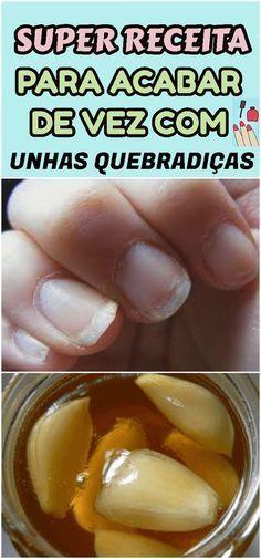 Uma conjugação de quatro produtinhos milagrosos deixam suas unhas fortes e saudáveis. #unhas #nails #quebradiças #cuidado #maos #receita #receitinha #caseira #natural #esmalte #beleza