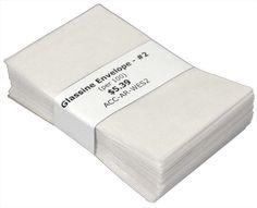 "Glassine Envelopes #2 (3-5/8"" x 2-5/16"") Per 100 - http://stamps.goshoppins.com/stamp-publications-supplies/glassine-envelopes-2-3-58-x-2-516-per-100/"