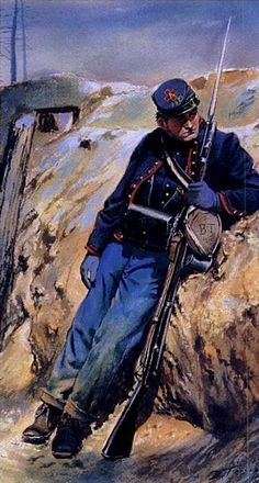 A painting of soldier in the 95th Pennsylvania by Don Troiani.