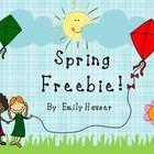 Please enjoy this free spring writing prompt, cvc word mat, and grammar worksheet!...