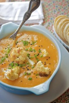 Sweet Potato Cauliflower Soup.