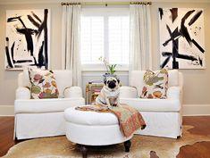 Design Jamie Meares/Furbish Design Studio / #livingroom #blackandwhite