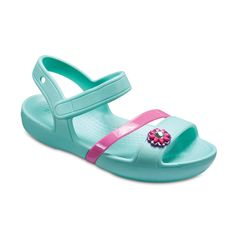 Crocs Lina Girl sandals Toddler Girl US Size  Aqua Green//Pink US Size 7c