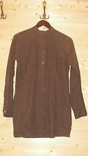 MARIMEKKO LADIES SHIRT DRESS SZ 38 SOFT SILKISH COTTON BROWN /BLACK DOTS