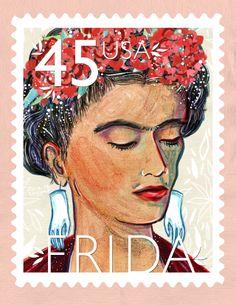 Frida Kahlo by Julia Lavigne @Gail Regan Truax://julia-lavigne.tumblr.com/search/Frida+Kahlo