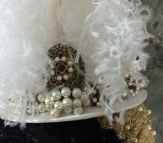 Jeweled hat detail - Accessories for the 1570s Spanish Court Ensemble Constructed by Truly Carmichael