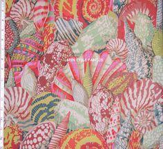 Fabric 1 Yard Philip Jacobs Shell Montage PJ37 Beige Ocean Sea Kaffe Westminster | eBay