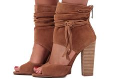 Lime Lush Boutique - Camel Suede Open Top Heel, $149.99 (http://www.limelush.com/camel-suede-open-top-heel/)