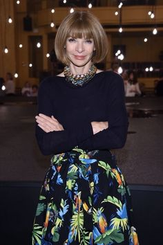 アナ・ウィンター(Anna Wintour)Marc Jacobs Spring 2017 fashion show front row during New…