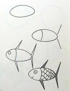 Art Drawings For Kids, Doodle Drawings, Drawing For Kids, Easy Drawings, Animal Drawings, Doodle Art, Art For Kids, Drawing Lessons, Drawing Projects