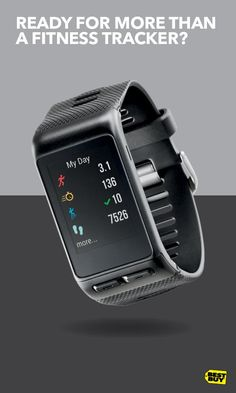 The Garmin vívoactive HR goes above and beyond a fitness tracker. A stand-alone GPS-enabled companion for running, biking, swimming and more, this smartwatch can also give you smart notifications and coaching when paired with your phone. No need for uncomfortable chest straps anymore, since the vívoactive HR reads your heart rate at your wrist. No matter what your workout, this wearable is ready to help you stay focused on your goals. Find this and way more fitness tech at Best Buy.