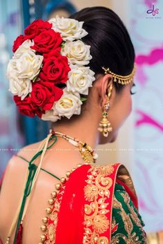 New Ideas For Bridal Makeup Indian Hairdos Bridal Hairstyle Indian Wedding, Bridal Hair Buns, Hairdo Wedding, Indian Wedding Hairstyles, Indian Bridal Makeup, Saree Hairstyles, Bride Hairstyles, Hairdos, Ponytail Hairstyles