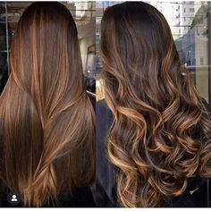 Straight Hair Highlights, Balayage Straight Hair, Brown Straight Hair, Honey Brown Hair, Brown Hair Balayage, Balayage Brunette, Hair Color Balayage, Brunette Hair, Hair Looks