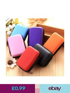 Portable Case Bag Headphone Storage Earbud Box USB Cable Organizer Memory Card H Cable Storage, Bag Storage, Storage Boxes, Nylons, Headphone Storage, New Headphones, Carte Sd, Earphone Case, Cable Organizer