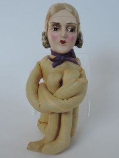 1920-s-Boudoir-Doll-with-composition-head-and-floss-wig