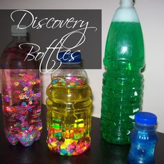 DIY Discovery bottles- fun kid's craft project is a fun project to do with the little kids in your life using some basic stuff you probably already have in the house.
